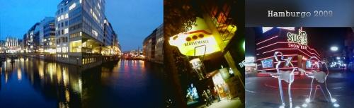 Hamburgo -paisagem urbana noturna - Beatles